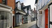 Market Town Of Alcester Warwickshire. poster