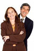picture of business-partner  - elegant business partners smiling  - JPG