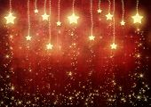 stock photo of merry christmas  - Stars on Red Background - JPG