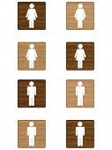 stock photo of tawdry  - Toilet icon - JPG
