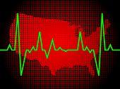 Постер, плакат: Пульс сердца Америки векторные иллюстрации