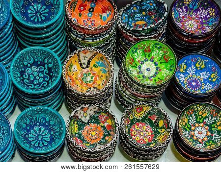 Traditional Turkish Ceramic Plates In