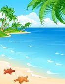Постер, плакат: Пляж сцена