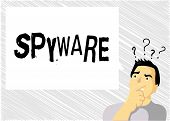 Word Writing Text Spyware. Business Concept For Software That Enables User Obtain Information About  poster