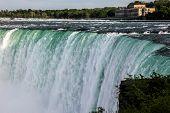 NIAGARA FALLS, ONTARI, CANAD - MAY 27, 2016.  Niagara Falls view from canadian side from Ontario, Ca poster