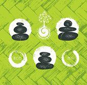 Spa Retreat Organic Eco Design Element. Nature Friendly Vector Concept poster