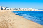 Tangier City Beach In Tangier, Morocco. Tangier Is A Major City In Northern Morocco. Tangier Located poster