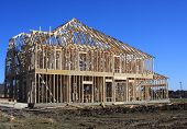 stock photo of 2x4  - Home under construction - JPG