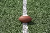 stock photo of ncaa  - American football on the line - JPG