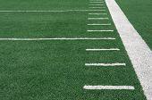 foto of football field  - Yard Lines of a Football Field - JPG