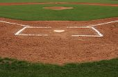 foto of infield  - Baseball Infield at Home Plate - JPG
