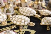 Brass Turtle Inlaid With Mother-of-pearl.a Casket Souvenir From India. poster