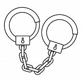 Handcuffs Icon. Outline Illustration Of Handcuffs Icon For Web poster
