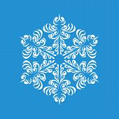 Melting Snowflake Icon. Simple Illustration Of Melting Snowflake Icon For Web poster
