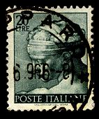 ITALY-CIRCA 1961:A stamp printed in Italy shows image of The Libyan Sibyl, named Phemonoe, was the p