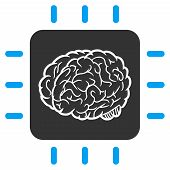 Vector Neural Processor Illustration. An Isolated Illustration On A White Background. poster