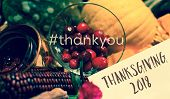 Thank You Thanksgiving 2018 Happy Thanksgiving Card For Giving Thanks On Social Networks Or To Busin poster