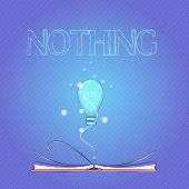 Word Writing Text Nothing. Business Concept For Not Anything No Single Thing Or Value Absence Of Pro poster