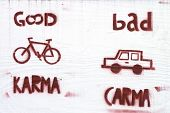stock photo of karma  - Bad Carma  - JPG
