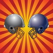 Football Helmets Colliding