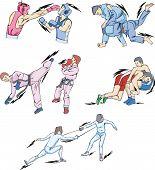 stock photo of judo  - Struggle and Fighting Sports - JPG