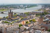 picture of reining  - View of the Rhein and Cologne from the viewpoint of Cologne Cathedral - JPG