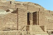 stock photo of ziggurat  - Choqa Zanbil brick ziggurat near Shush Iran - JPG