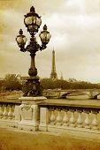 Постер, плакат: Парижские улицы картина в стиле Винтаж живописи