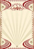 Circus red vintage poster. A circus vintage poster for your publicity