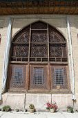 pic of shiraz  - Wooden window of palace in fortress Arg - JPG