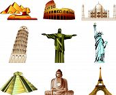 world famous monuments icons