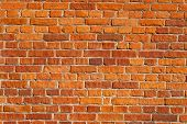 stock photo of stonewalled  - Red brick wall background - JPG