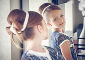 stock photo of child missing  - Portrait of a little fashion kid girl - JPG