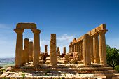 picture of greeks  - Ancient greek Temple of Juno Agrigento Sicily Italy - JPG