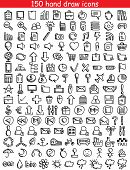 picture of universal sign  - Set of 150 drawing icons for web and mobile - JPG