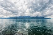 picture of montre  - Panorama of Geneva lake near Montreux - JPG