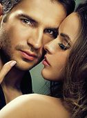 stock photo of erotic  - Portrait of a handsome couple - JPG