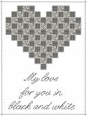 Patchwork Heart with Text and Border