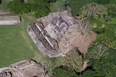 pic of atonement  - aerial view of Altun Ha maya ruins in the tropical jungle of Belize - JPG