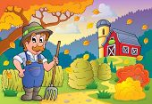 Autumn farm theme 3 - eps10 vector illustration.