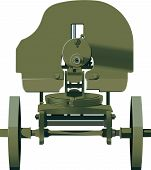 picture of maxim  - Maxim machine gun barrel turned to the viewer - JPG