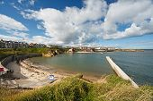 foto of tyne  - A sunny day at Cullercoats bay a popular tourist attraction located between Tynemouth and Whitley Bay - JPG