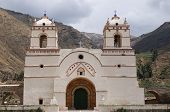 Colonial Churcche In Peru, Yanque, Colca Canyon
