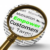 foto of empower  - Empower Magnifier Definition Meaning Motivation Success And business Encouragement - JPG