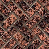 stock photo of terrazzo  - Ornate seamless texture in the form of square tiles - JPG