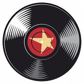 pic of jukebox  - vinyl disc vector illustration on white background - JPG