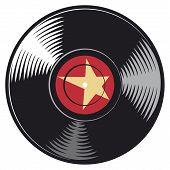 picture of jukebox  - vinyl disc vector illustration on white background - JPG