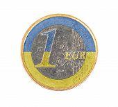 Постер, плакат: Euro Coin 1 Euro