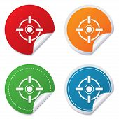 stock photo of crosshair  - Crosshair sign icon - JPG