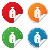 image of usb flash drive  - Usb Stick sign icon - JPG